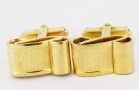 Sympathiques boutons de manchette en métal doré