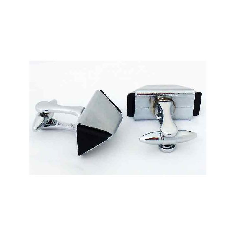 boutons de manchette anglais m tal blanc et r sine. Black Bedroom Furniture Sets. Home Design Ideas