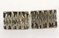 Boutons de manchette en argent 1960 signés MECAN
