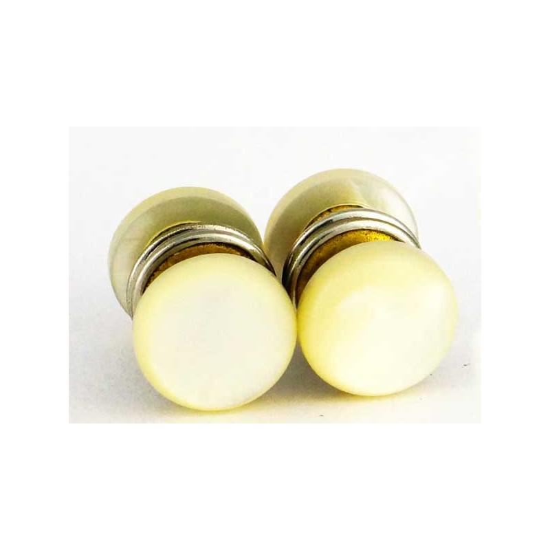 boutons de manchette 1920 anglais 4 faces en nacre boutons de manchette. Black Bedroom Furniture Sets. Home Design Ideas