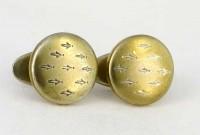 Petits boutons de manchette fin XIXe siècle
