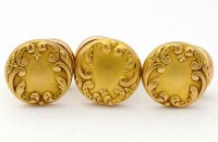Boutons de plastron fin XIXe signés FIX pour boutons numero 3054