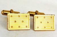 Boutons de manchette 1980 en métal doré
