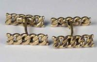 """Boutons de manchette """"chainettes"""" 1950"""