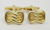 Boutons de manchette 1960 métal doré