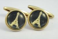 Boutons de manchette tour Eiffel 1930
