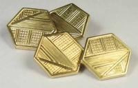 Boutons de manchette Murat plaqué or