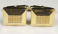 Boutons de manchette Dial plaqués or