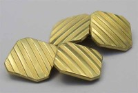 Boutons de manchette Oria plaqués or