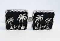 Boutons de manchette palmiers vintage