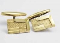 Boutons de manchette 1910 plaqué or