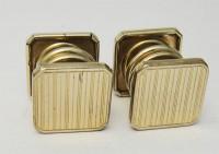 Boutons de manchette 4 faces guillochées 1930 Art Déco