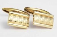 Boutons de manchette Art Deco plaqué or