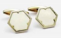 Boutons de manchette celluloid hexagonaux 1930