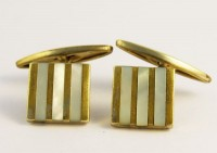 Boutons de manchette 1920 nacre et metal doré
