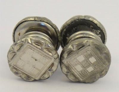 boutons de manchette 1930 aluminium