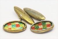 Beaux boutons de manchette pailletés 1920