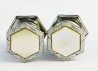 Boutons de manchette hexagonaux 4 faces