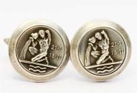 Magnifiques boutons du signe Verseau en argent