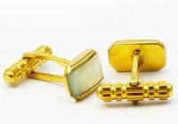 Nacre sur métal doré vers 1950