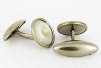 Boutons de manchette 1920 nacre et perle