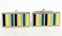 Boutons de manchette multicolores et métal blanc