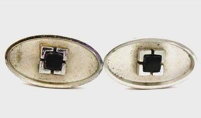 Boutons de manchette de marque Shields vintage