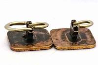 Boutons de manchette fin XIXe siècle dorés
