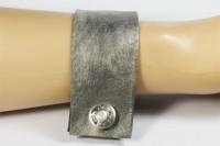 Nice Manchette en cuirgris et bouton 1920