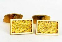 Boutons de manchette anciens en or massif 18k
