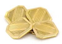 Boutons de manchette ARt Déco 1930 plaqués or