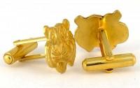 Boutons de manchette tigres dorés