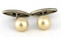 Boutons de manchette anciens perles