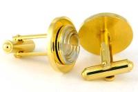 Boutons de manchette fin XXe plaqués or
