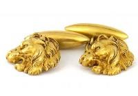 Boutons de manchette à têtes de lions 1940