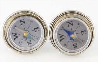 Boutons de manchette vintage faces de boussoles miniatures