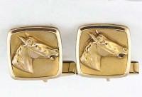 Boutons de manchette vers 1940 tete de cheval