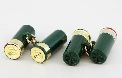 Boutons de manchette cartouche de fusil